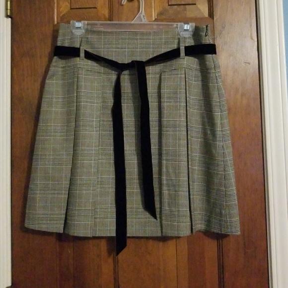 45c43b8d34 Banana Republic Dresses & Skirts - Banana Republic Brown Blue Plaid Pleated  Skirt 4